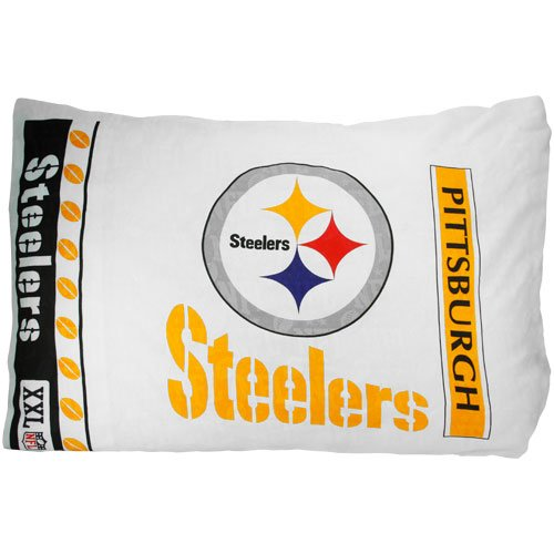 NFL Pittsburgh Steelers Micro Fiber Pillow Case Logo at Amazon.com