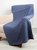 Bottega Tessile Plaid Azul 130 x 170 cm