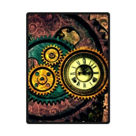4.5 ft x 6.5 ft = 29 square ft Doormat Waterproof Plush Living Kitchen Gear Steampunk (Wargame Red Dragon Steam compare prices)