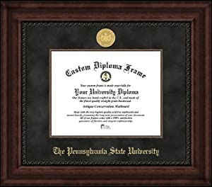 Pennsylvania State University Nittany Lions - Gold Medallion - Suede Mat - Mahogany -... by Laminated Visuals