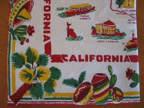 Vintage Reproduction California Souvenir Kitchen Towel