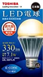 TOSHIBA E-CORE(イー・コア) LED電球(調光器対応・E26口金・一般電球形・白熱電球40W相当・330ルーメン・電球色相当) LEL-AW7L/D
