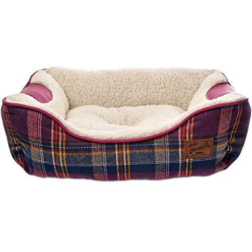 Bond-Co-Heritage-Pink-Plaid-Bolster-Dog-Bed
