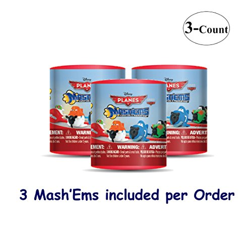 Disney PLANES-Fire and Rescue Mash'Ems (choices may vary) Blind Pack Capsule - 3 Pack (3 Mashems Capsules per order) - mini Action Figures - 1
