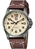 "Luminox Men's 1927 ""Atacama"" Stainless Steel Black PVD Watch with Brown Leather Band"