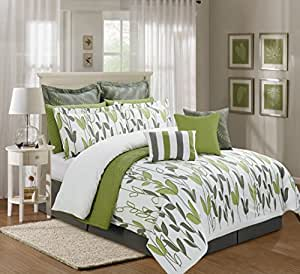Amazon Com 12 Pieces Luxury Sage Green Grey And White