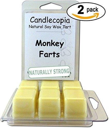 Candlecopia-Monkey-Farts-Scented-Wax-Melts-A-Medley-of-Peach-Strawberry-Pineapple-Coconut-Orange-Blended-with-Vanilla-and-Exotic-Musk-64-ounces-2-pack-of-6-wax-cubes-each