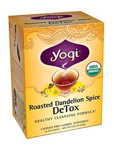 Yogi Tea Roasted Dandelion Spice Detox, 16 Count (Pack Of 6)