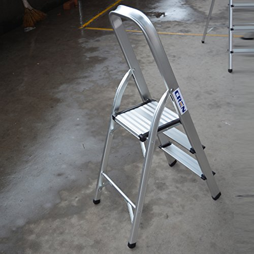 Cren Ultra Light Aluminum 3 Step Steel Frame Stool With