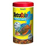 Tetra 77248 TetraColor PLUS Tropical Flakes, 7.06-Ounce, 1-Liter
