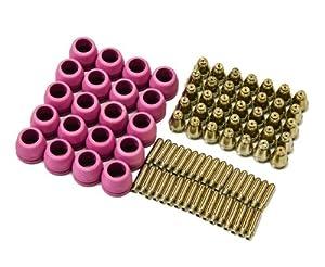 PCON90 90 pcs lotos plasma cutter consumables nozzle electrode and cup for LTP5000D, LTP5000 LTPDC2000, LTPDC2000D and LTPAC2500 by Lotos Technology