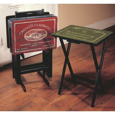 Cheap Cape Craftsmen 5809 Wines of the World Wine Label TV Tray Set with Stand (B002DEYD3Q)