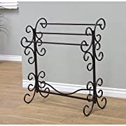 "Frenchi Home FurnishingBlanket Rack, 35.5"" H, Eerie Black"