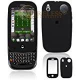 Black Rubber Feel Snap-On Cover Hard Case Cell Phone Protector for Palm PRE [Beyond Cell Packaging]