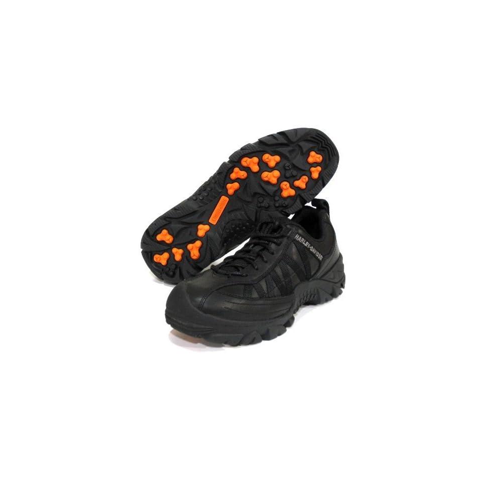 Harley Davidson Zurich Black Motorcycle Shoes Mens Size 12
