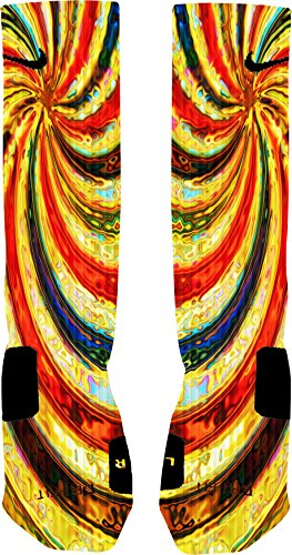 Kaleidoscope Custom Nike Elite Socks (Small 4-6) (Custom Made Nike Elite Socks compare prices)