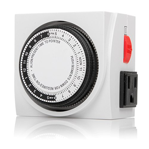 Century Heavy Duty Mechanical Timer Dual Outlet - 24 Hours (Heavy Duty Electrical Timer compare prices)
