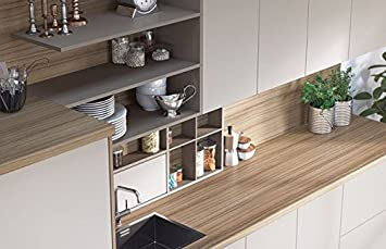 Egger Contemporary Coco Bolo Effect Kitchen Bathroom Laminate Worktop Offcut Work Surface 40mm Breakfast Bar - 3m x 670mm x 38mm Breakfast Bar