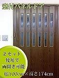 窓付パネルドア 木目ダークオーク 幅100cm×高さ174cm