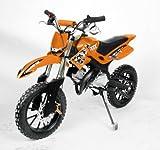 "Dirtbike 49cc Hobbit Cross 10"" Pocketbike Crossbike Kinderbike Orange"