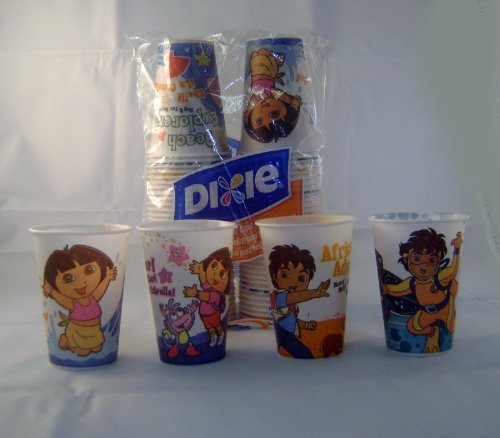 Dora And Go Diego Go Dixie 7 Oz Disposable Cups