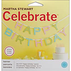 Martha Stewart Crafts Happy Birthday Banner