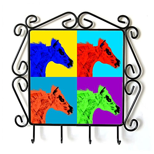 falabella-clothes-hanger-with-an-image-of-a-horse-andy-warhol-style