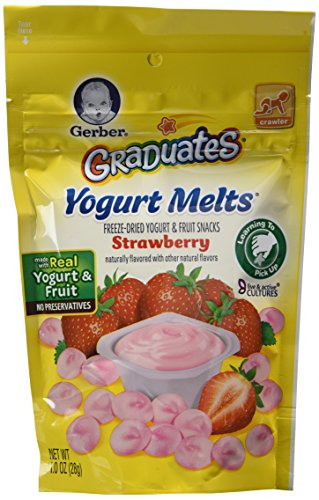 Gerber Graduates Yogurt Melts - Variety Pack of 4 (Banana Vanilla, Peach, Strawberry, Mixed Berries) - 1