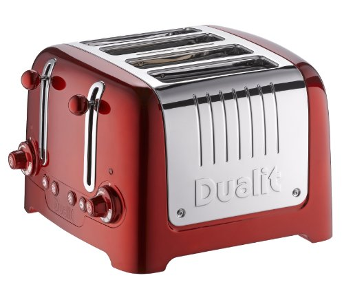 Dualit 46211 4 Slice Lite Toaster, Metallic Red by Dualit