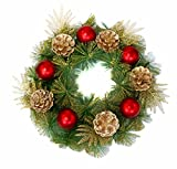 Rich Green & Cherry Red Christmas Wreath