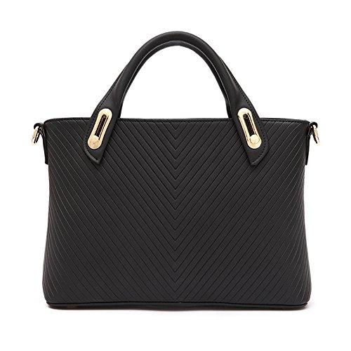 Fashion Pu Leather Clutch Cross-Body Shoulder Handbag 03557 (Black)