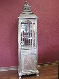 holz laterne antik design mit schublade 170 cm gro garten. Black Bedroom Furniture Sets. Home Design Ideas