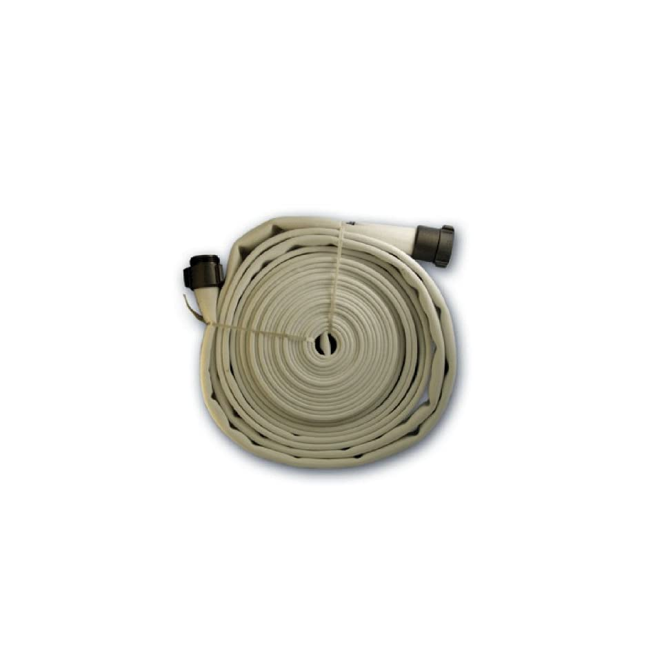 Fire Hose 100 ft X 1.5 Inch Single Ply With End Fittings