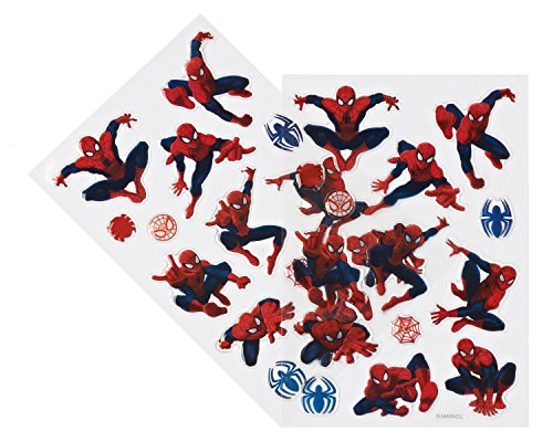 Marvel Spiderman Sticker Sheets, 2 Count,  Party Supplies - 1