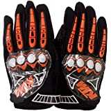 EASY4BUY GLOVES FOR Ktm Gloves Black With Orange _X-Large (Black_X-Large)