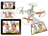 カメラ搭載 ラジコンヘリ ヘリコプター クアッド 4ch ヘリ WIFI アプリ Phone iPad 3D飛行可能飛空撮 KB-NAME-X