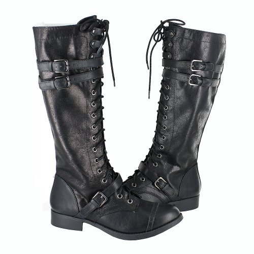 Soda Womens Ahoy- S Pu 12 Boots Black Size 10