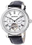 [ブルッキアーナ]BROOKIANA オリジン マルチファンクション 自動巻き シルバー×ブラックレザー BA2603-SVBK メンズ 腕時計
