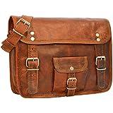 """Gusti Leder nature """"Lynn"""" Genuine Leather Handbag Satchel Purse Shoulder Cross Body Messenger Vintage Leisure Bag Unisex Brown H9"""