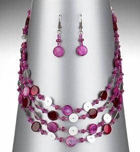 Sparkle Chorus Shell Necklace & Earrings Set
