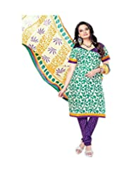 Sky Fashions Women's Multi Cotton Top Un-stiched Salwar Suit (SYFW0038)