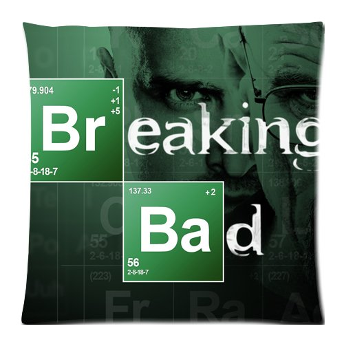 Custom Breaking Bad, mit Reißverschluss, Kissen, Kissenbezug, 18 x 18 cm, 2 Seiten)