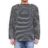Orcival(オーチバル)フレンチテリー ボーダー バスクシャツ【FB211】[正規取扱] (4, MARINE/ECRU)