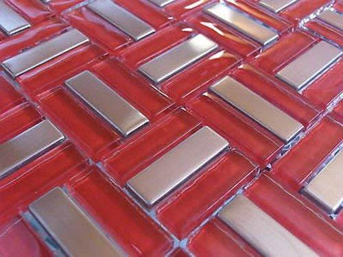 FLIESENTOPSHOP Glasmosaik Edelstahlmosaik Fliesen Mosaik Metallmosaik2