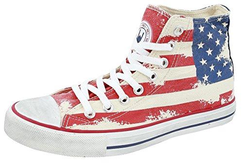 R.E.D. by EMP Flag High Collar USA Scarpe sportive rosso/bianco/blu EU37