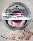 Cranberry Infused Cocktail Sugar, drink rimmer