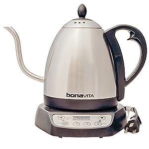 Bonavita 1-Liter Variable Temperature Digital Electric Gooseneck Kettle by Espresso Supply, Inc