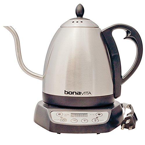 Bonavita BV382510V Electric Kettle, Gooseneck Variable Temperature, 1.0L (Electric Kettle Digital compare prices)