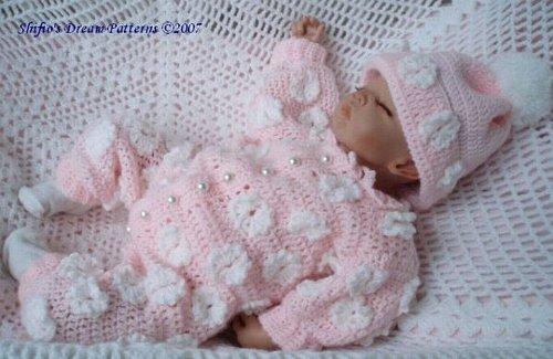 Sugar Daisy Pram Baby Crochet Pattern 70 USA