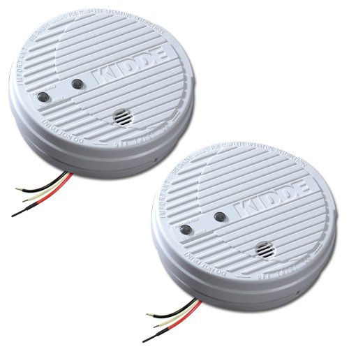 Kidde 1275 Hardwire Smoke Alarm With Hush Feature And Battery Backup, Twin Pack front-84154